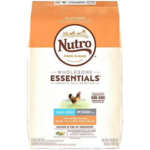 NUTRO WHOLESOME ESSENTIALS Large Breed Adult Farm-Raised Chicken, Brown Rice & Sweet Potato Recipe Dry Dog Food Plus Vitamins, Minerals & Other Nutrients, (1)30 lbs., Delicious Chicken Flavor; Rich in Nutrients and Full of Flavor