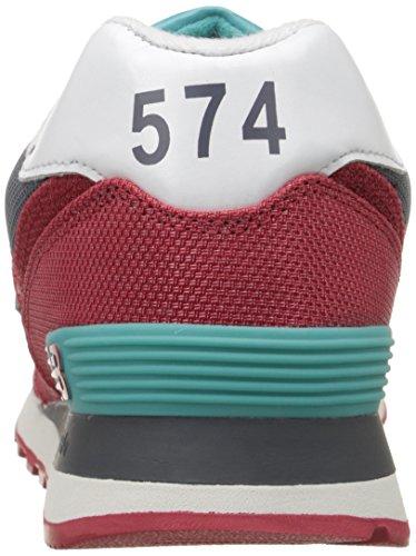 New Balance Heren Ml574 Winter Harbor Pack Klassieke Hardloopschoen Chili Peper / Grijs