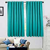 Ottomanson CBT1005-52X63 52'' X 63'' Back Tab & Rod Pocket - Turquoise (1 Panel) Blackout Curtain