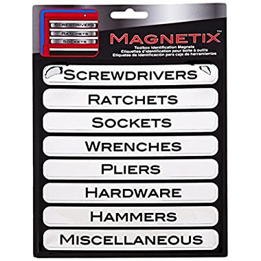 Chroma 47001 Silver Toolbox Magnet Label Kit - 8 Piece