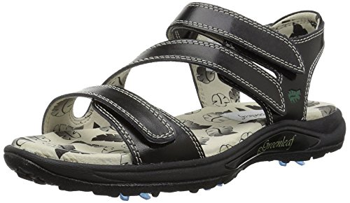 Golfstream Women's Harmony Spike Sandal Sport, Black, 7 M US -