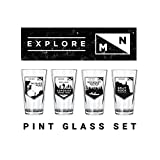 Cheap Explore Minnesota Pint Glasses Set | Northern Glasses
