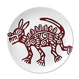 Mexico Totems Wild Animal Ancient Civilization Dessert Plate Decorative Porcelain 8 inch Dinner Home