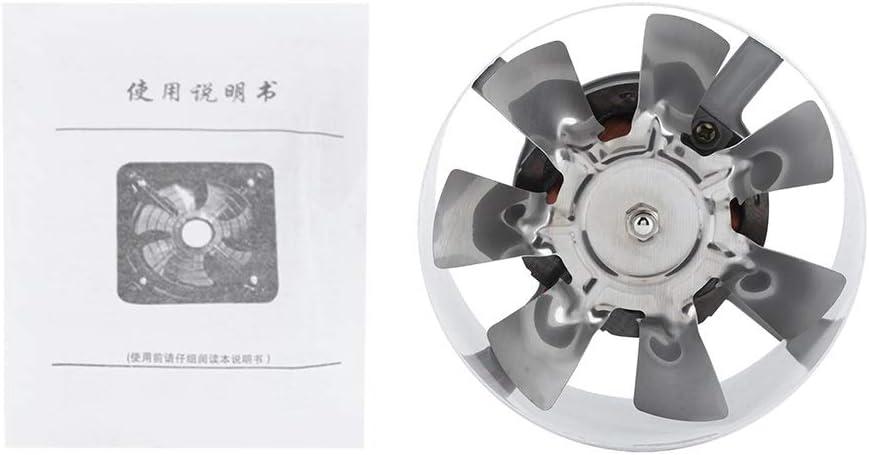 KSTE Extintor 1 PC de 25W 220V montado en la Pared Extractor, bajo Nivel de Ruido Inicio Baño Cocina Garaje ventilación de Aire de alimentación.