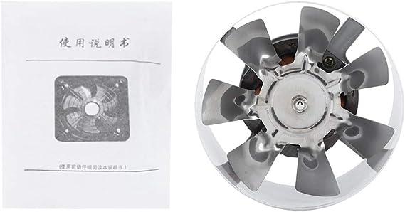 KSTE Extintor 1 PC de 25W 220V montado en la Pared Extractor, bajo Nivel de Ruido Inicio Baño Cocina Garaje ventilación de Aire de alimentación.: Amazon.es: Hogar