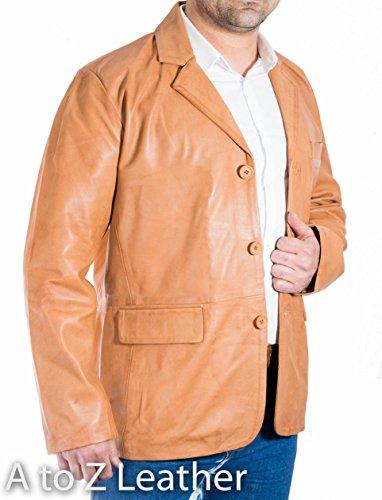 Cuir Bronzer Des Bouton Tailored Trois Blazer Džcontractže De Classique Amžnagže Hommes q48wBqRSx