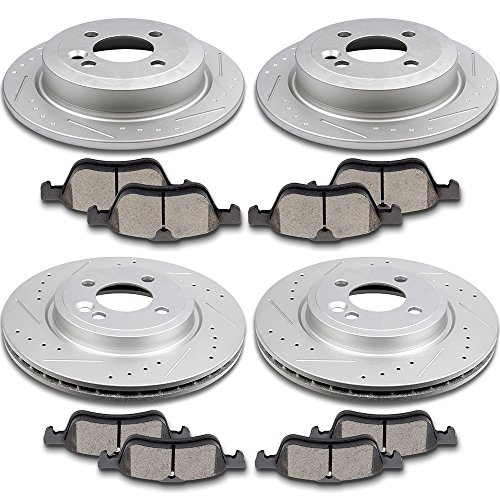 Brake Parts,SCITOO 4pcs Brake Rotors Discs and 8pcs Ceramic Disc Brake Pads Compatible with 120.34067 34231 120.34066 34232 308.09390 308.10600 Brake Kits Fit for 2002 2003 2004 2005 2006 Mini Cooper