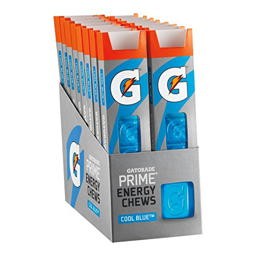 Gatorade Prime Energy Chews, Cool Blue ,6 Count (Pack of 16) -
