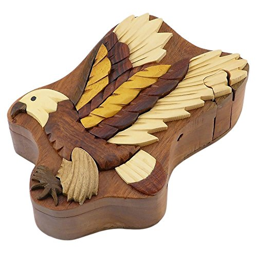 Flying Eagle Secret Handcrafted Wooden Puzzle Box for sale  Delivered anywhere in USA