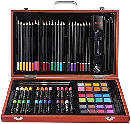 Set de dibujo a lápiz de color artista Estuche de arte de inspiración para adultos de pintura para niños, regalos para niños, de 4 a 8 años de edad, dales el espacio