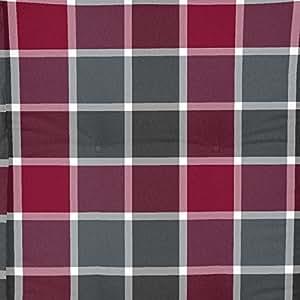 –Fregadero rojo/gris cuadros para banco, 140x 49x 6cm