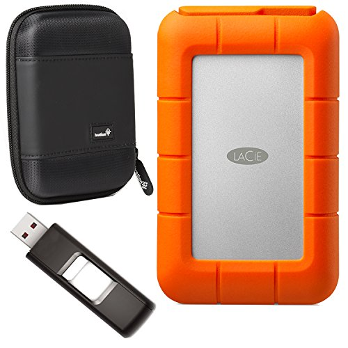 LaCie Rugged Raid, Thunderbolt and USB 3.0 4TB (STFA4000400) With Ivation Compact Portable Hard Drive Case & SanDisk Cruzer USB drive 32 GB Flash Drive by Calumet