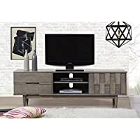 Mid Century Modern Grey Tessuto 70-inch Entertainment Center