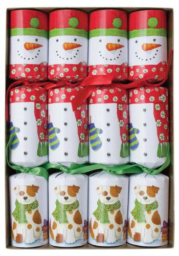 Caspari Snow Friends Celebration Crackers, Box of 8