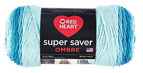 - Red Heart Super Saver Ombre Yarn, 10 oz, Scuba