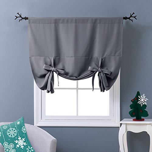 Tie-Up Thermal Insulated Blackout Curtains