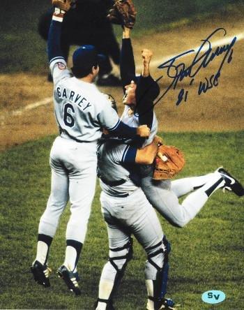 1981 World Series - Steve Garvey Signed Photo - 8x10#6 81 WSC 1981 World Series Champs Celebration - Autographed MLB Photos