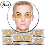 Cleansing Your Crystals In The Sun - Set Kit of 5 Pairs 24K Gold Golden Collagen Gel Crystal Masks Eyelids Patches Eyes Pads for Intense Moisturizing Hydrating, Skin Firming Lifting, Wrinkles Removal and After Sun Sunburn Treatment
