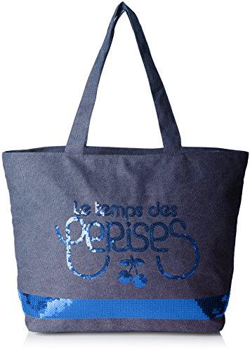 Le Temps Des Cerises - Glitter 5, Sac Borse Donna Blu (bleu)