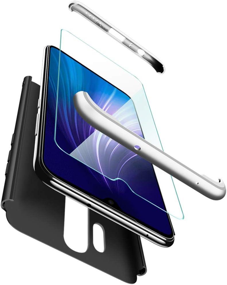 ivencase Funda Xiaomi Redmi Note 8 Pro + Cristal Templado, para Xiaomi Redmi Note 8 Pro Funda 3 in 1 Rígida PC Protective Anti-rasguños Case Cover Caso