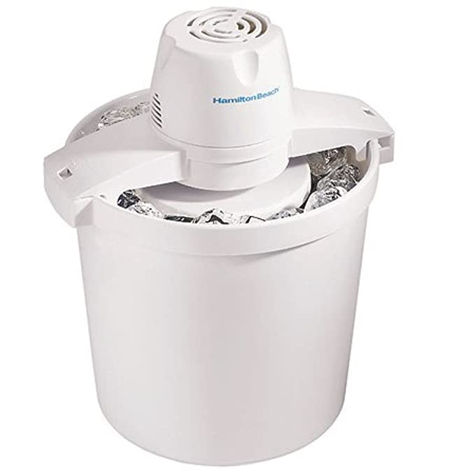 Hamilton Beach 68330N Automatic Ice Cream Maker, 4 quart, White best ice cream maker