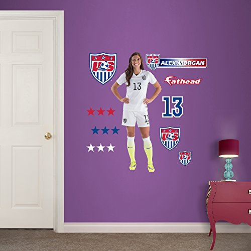 UPC 889759002653, World Cup Soccer United States Alex Morgan Junior Wall Decal