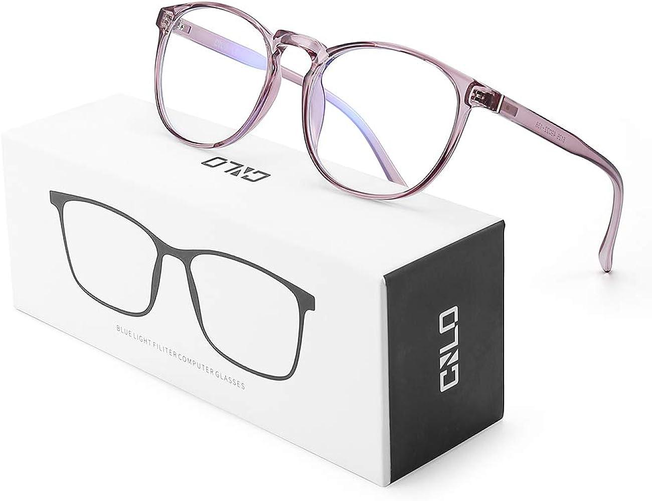 Gafas de bloqueo de luz azul CNLO, gafas de ordenador, antifatiga visual, gafas de marco ligero, hombres/mujeres
