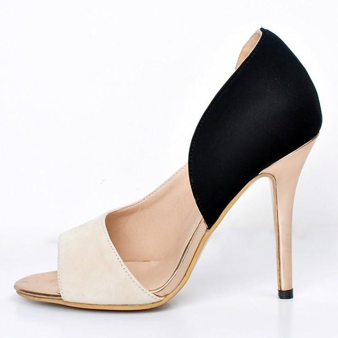 Kolnoo Damen Faschion 100mm Absatz offene-Zeh große Größen Partei Büro  Pumpen Schuhe: Amazon.de: Schuhe & Handtaschen