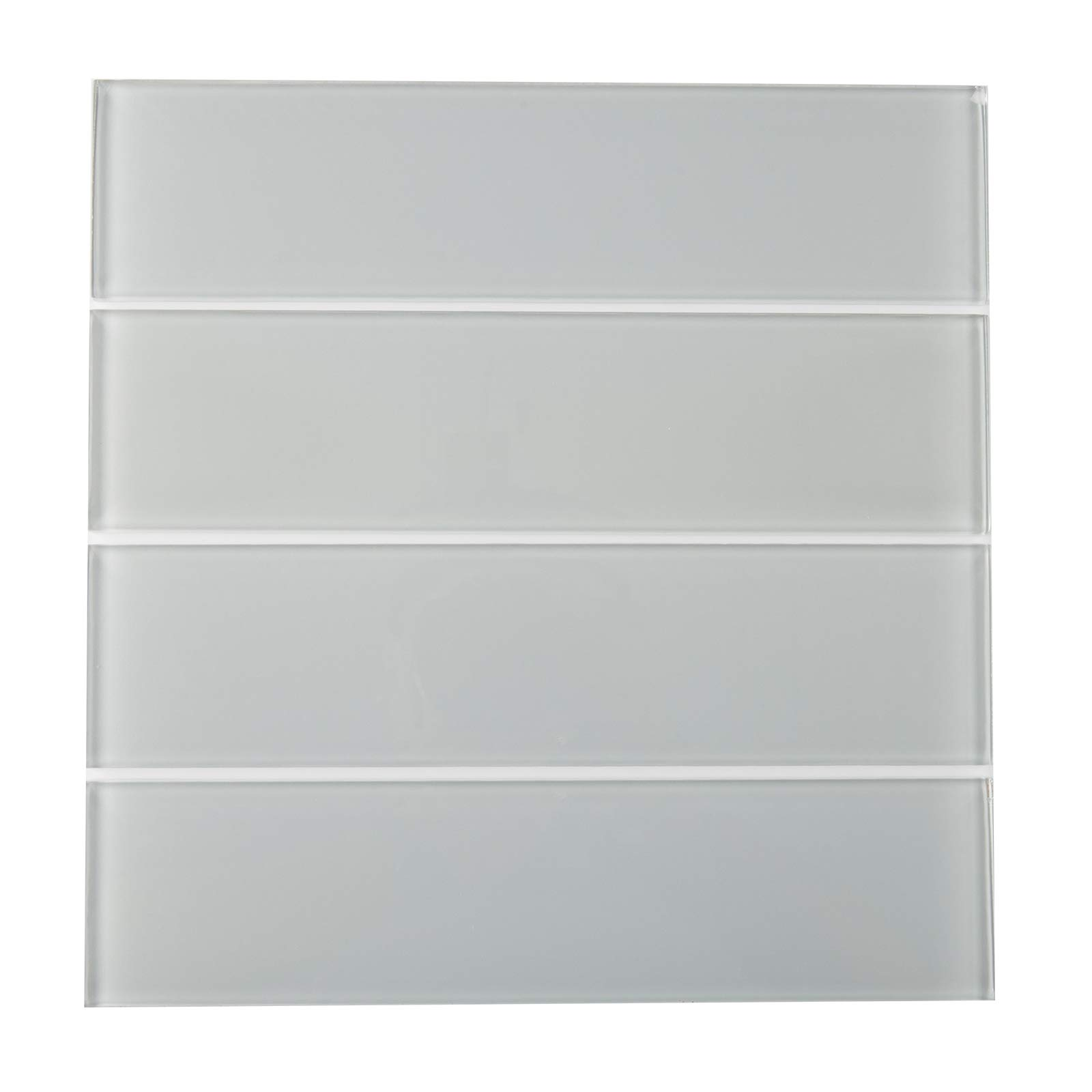 Glass Subway Tile,''Oracle Collection'', GTSU 002 - Silver Grey, 3''X12'', 4 Pieces per SQFT (Box of 5 SQFT) by Mosaic Warehouse