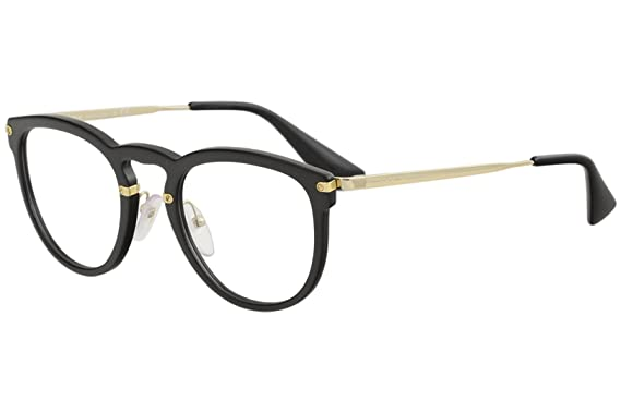 8ceed0312353c Prada Women s Eyeglasses VPR02V VPR 02V 1AB 1O1 Black Gold Optical ...