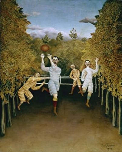 Posterazzi Football Players 1908 Henri Rousseau (1844-1910/French) Oil on canvas Solomon R. Guggenheim Museum New York Poster Print (24 x -