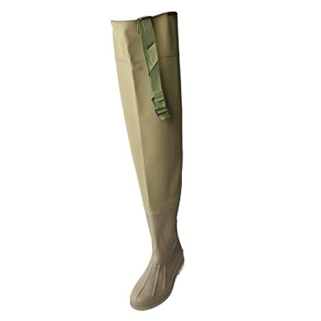 3a96194fcff Homyl Waterproof Wading Boots Over Knee Hip Waders Thick Leg Wear Rain  Boots Pants River Bootfoot