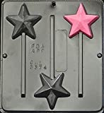Star Lollipop Chocolate Candy Mold 3374