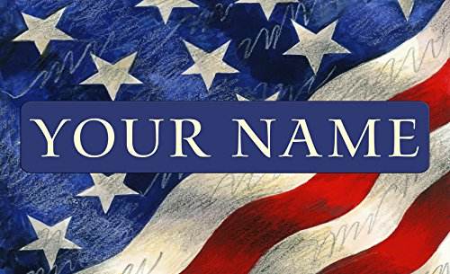 Toland - Star-Spangled Banner Personalized/Customizable Indoor Outdoor Welcome Door Mat USA-Produced