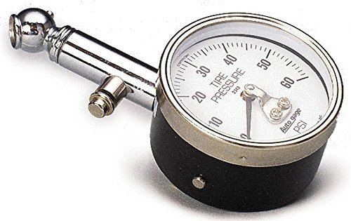 Auto Meter 2343 Autogage Mechanical Tire Pressure Gauge with Rubber Guard