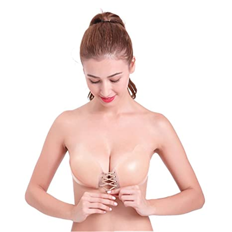 4c2eee997ab2c Amazon.com  Strapless Invisible Self Adhesive Silicone Backless Push-up Bra(C)   Baby