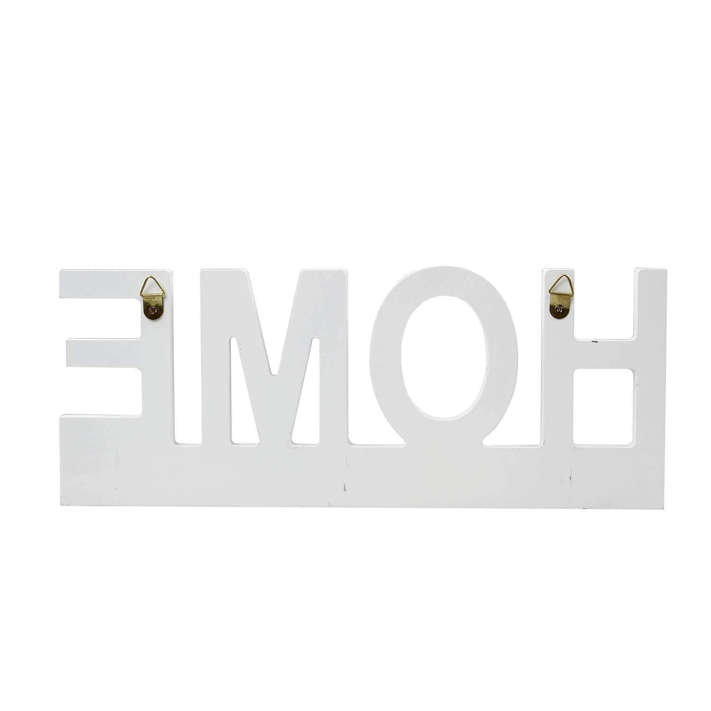 Home 29 x 11,5 cm Aprox Blanco /ó Gris OOTB 144209 Tabla de Madera para Colgar Las Llaves con 3 Ganchos