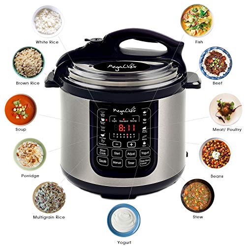 MegaChef 8 Quart Digital Pressure Cooker with 13 Pre-set Multi Function Features by Megachef (Image #1)