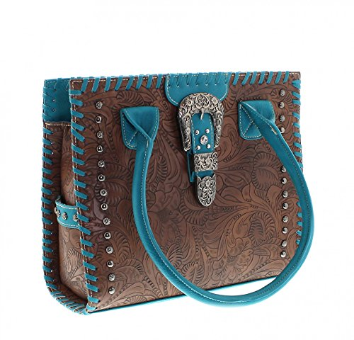 Boots Material de turquesa para cruzados size One Bolso mujer Sintético Fashion multicolor OqpHdd