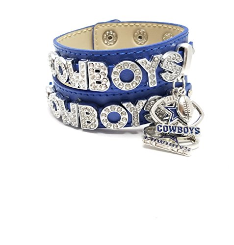 Atlanta Falcons Fan Football Fan Charm Slider Alphabet Charm Bracelet I Love Dallas Cowboys Rhinestone Bracelet/cowboys Football Fans ()