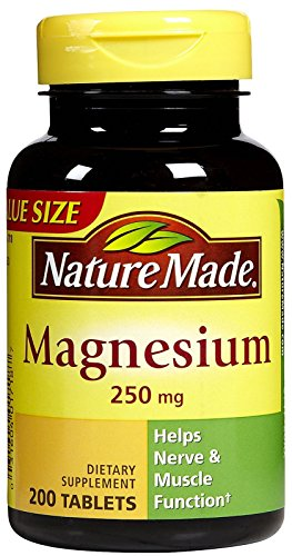 Nature Made Magnesium 250 mg Tabs, 200 ct