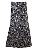 ANDYOU-Women Islamic Print Vogue Muslim Bodycon Folk Style Girls Half Skirt Black L