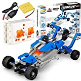 Alomejor DIY Building Blocks Car, RC Rechargeable Full Functional Remote Control Electric Car