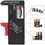 RED SHIELD Universal Battery Tester, Checker. Accurate, Portable. Check and Test Multiple Sizes. Adjustable Slider Accommodates Batteries. Easily Check Your Remaining Battery Level with Gauge Display.