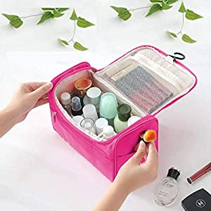 Latuki Multifunctional Extra Large Cosmetic Bag with Hook for Travel, Makeup Organiser, Cosmetic Pouch, Household…
