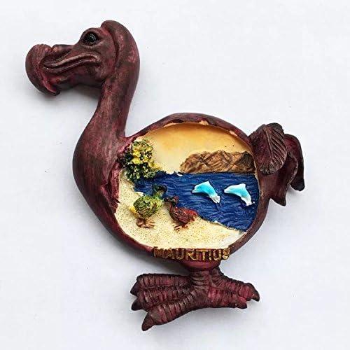 Bird Dodo Maurice R/ésine 3d solide Aimant de r/éfrig/érateur souvenir Tourist Cadeau chinois Aimant fabriqu/ée /à la main Craft Creative Maison et d/écoration de cuisine magn/étique Autocollant