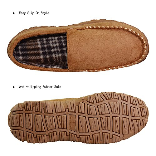 FBA On Indoor Moccasin Slip Men's Shoes Slippers 12 VLLY US Household Outdoor Microsuede Beige xOf6fB