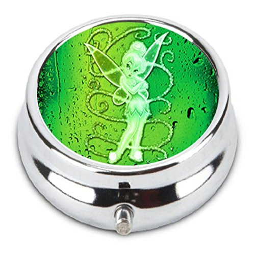 Price comparison product image TINKERBELL Custom Fashion Pill Box Medicine Tablet Holder Organizer Case for Pocket or Purse