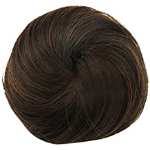 Elisona-Women's Synthetic Hair Scrunchie Bun Fake Chignon Hair Pieces Bun Hair Extension Wigs Brown