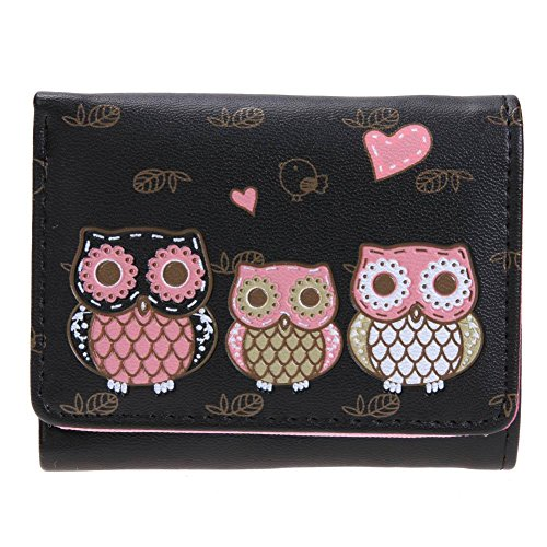 Mini Clutch Leather Green Widewing Women Coin Purse Small Wallets Cute Light PU Black qxxaCz1wn